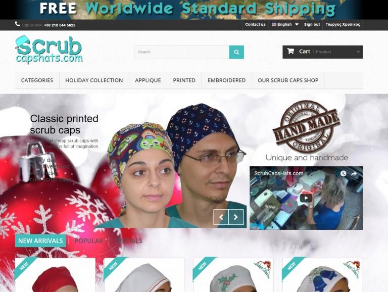 scrubcapshats.com Διεθνές eshop για καπελάκια